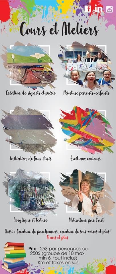 Cours et Ateliers | Rel'Art | Réalisation Evelyn Losier