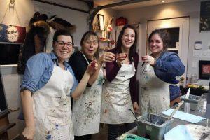 Evelyn Losier et son atelier de peinture pompette