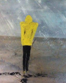 Muse sous la pluie 40 X 48